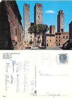 San Gimignano. Piazza Delle Erbe. Viaggiata 1978. Auto - Altre Città