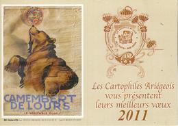Petit Calendrier Des Cartophiles Ariégeois  2011 - Calendars