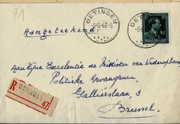 Doc. De OETINGEN  05/06/47 En Rec. ( Col Ouvert V) - Poststempel