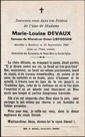 Bailleul, 1967, Maria-Louise Devaux, Liefooghe - Andachtsbilder
