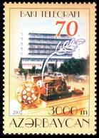 130 - Azerbaijan - 2002 - Baku Telegraph Building - 1v - Lemberg-Zp - Azerbaiján
