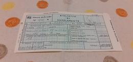 BIGLIETTO TRENO DI SUPPLEMENTO DA PALERMO NOTARBARTOLO A ROMA TERMINI 1979 - Treni