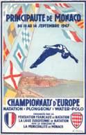 06 - ALPES MARITIMES - MONACO - 10003 - Carte Publicitaire Championnat D'Europe Natation - Autres Communes