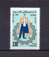 Syria 1987 - 1st May The International Labour Day - Stamp 1v - Complete Set - MNH** Excellent Quality - Syria