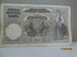 YUGOSLAVIA 100 Dinara 1.May 1941 - Jugoslawien