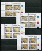 Bophuthatswana Mi# 303-6 Zylinderblocks Postfrisch/MNH Controls - Maps - Bofutatsuana