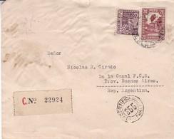 PEROU ENVELOPPE CIRCULEE DE LIMA A DE LA CANAL, BUENOS AIRES, ARGENTINE ANNEE 1933 RECOMMANDE -LILHU - Peru