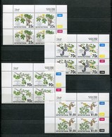 Bophuthatswana Mi# 281-4 Zylinderblocks Postfrisch/MNH Controls - Flora Trees - Bofutatsuana