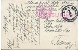 1915 -Kriegsmarine S.M.S.,,ALPHA,, PULA  Pola ,  , Gute Zustand, 2 Scan - Croatia