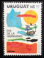 1979 URUGUAY MNH  Jornada Hispanica - Día De La Hispanidad Hipanic Day Carabela Ship Sailboat Navire Caravel  Yvert 1043 - Uruguay