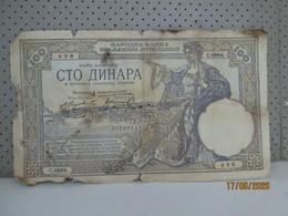 YUGOSLAVIA 100 Dinara 1.December 1929 - Jugoslawien