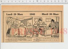 2 Scans Humour Cartomancienne Tireuse De Cartes Horlogerie Montre Incassable Bon-point Ancien école Poupée 198PF46 - Vieux Papiers