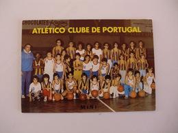 Sports Basketball Basquetebol Atlético Clube De Portugal Mini Portugal Portuguese Pocket Calendar 1988 - Tamaño Pequeño : 1981-90