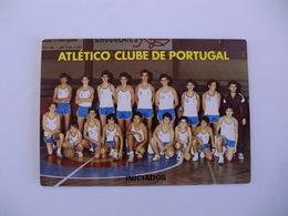 Sports Basketball Basquetebol Atlético Clube De Portugal Iniciados Portugal Portuguese Pocket Calendar 1988 - Tamaño Pequeño : 1981-90
