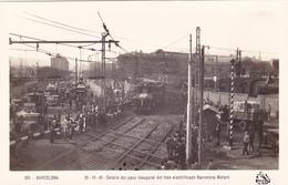1429/ Barcelona, Detalle Del Paso Inaugural Del Tren Electrificado Barcelona- Mataro - Eisenbahnen