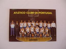 Sports Basketball Basquetebol Atlético Clube De Portugal Juniores Portugal Portuguese Pocket Calendar 1988 - Tamaño Pequeño : 1981-90