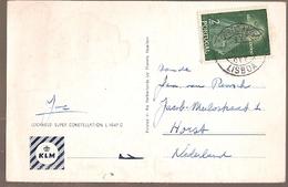 Portugal  & Marcofilia, Lockheed L-1049 Super Constellation, K.L.M, Lisboa To Horst Netherlands  1957 (9643) - 1910-... Republic