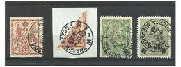 POLAND MUNICIPAL POST WARSAW 1916 4 Used Stamps - ....-1919 Übergangsregierung