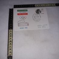 FB1528 BIGLIETTO POSTALE TIMBRO TARGHETTA AEROGRAMMA LXXXV SESSIONE COMITATO INTERNAZIONALE OLIMPICO 1982 - Interi Postali