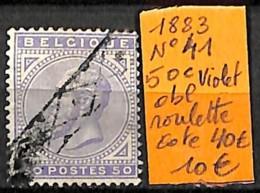 D - [835372]TB//O/Used-c:40e-Belgique 1883 - N° 41, 50c Violet, Obl Roulette - 1869-1883 Léopold II