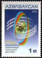 149 - Azerbaijan - 2006 - World Informational Society - 1v - Lemberg-Zp - Azerbaiján