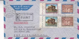 CITTA DEL VATICANO ENVELOPPE CIRCULEE A NEW YORK, ETATS UNIS ANNEE 1964 PAR AVION RECOMMANDE -LILHU - Covers & Documents