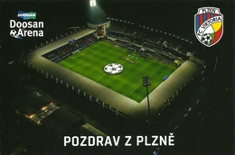 STADIUM POSTCARD ESTADIO STADE STADION STADIO PLZEN - Stadi