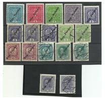 "POLAND Local Post Stamps TARNÒW 1918 ""RZP POLSKA"" Ovpt On Austria 17 Stamps - ....-1919 Übergangsregierung"