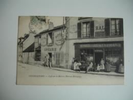 Cpa 78 Chateaufort Cafe De La Mairie Maison Mainguy Animation - Autres Communes