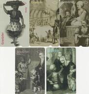 Turkey, TR-TT-N-0200 - 0205, Set Of 5 Cards,   Engravings, 2 Scans,  Nr. 200 Has A Slight Bend - Turchia