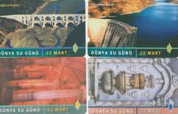 Turkey, TR-TT-N-224 - 227, Set Of 4 Cards, 22 March World Water Day 2 Scans. - Turchia