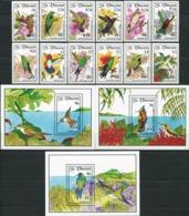 SAINT VINCENT 1992 Hummingbirds Birds Animals Fauna MNH - Colibris