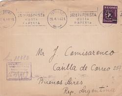 FINLANDE ENVELOPPE CIRCULEE DE TAMPERE A BUENOS AIRES, ARGENTINE ANNEE 1948 RECOMMANDE -LILHU - Briefe U. Dokumente