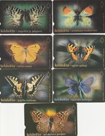 Turkey, TR-TT-N-242 - 248, Set Of 7 Cards, Butterflies, 2 Scans. - Turkey