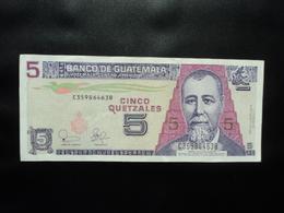 GUATEMALA : 5 QUETZALES   12.2.2003      P 106a      TTB+ - Guatemala
