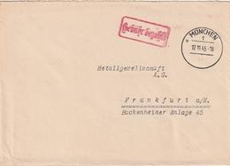 """All.Besetzung / 1945 / Brief Ex Muenchen, Roter R2 """"Gebuehr Bezahlt"""" (BI06) - American,British And Russian Zone"""