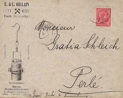 Luxembourg  Lettre 1907  E.& L. GILLAIN  EISEN - METALLE  ESCH / ATZ. ( LUXBG ) - 1895 Adolfo Di Profilo