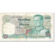 Billet, Thaïlande, 20 Baht, 1981, Undated (1981), KM:88, TB - Thailand