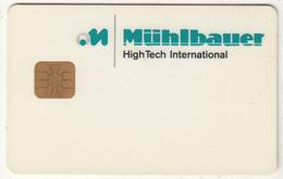 GERMANY - Muhlbauer Demo Card - Allemagne