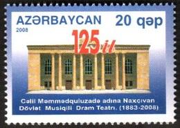 155 - Azerbaijan - 2008 - Drama Theatre - 1v - Lemberg-Zp - Azerbaiján