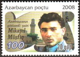 157 - Azerbaijan - 2008 - Poet M. Musfiq - 1v - Lemberg-Zp - Azerbaiján