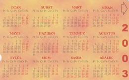 Turkey, TR-TT-N-293, Calendar 4, 2 Scans. - Turquia