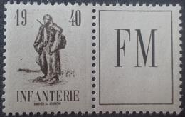 R1615/1990 - 1940 - FRANCE - FM - N°10A Avec Vignette NEUF** - Militärpostmarken