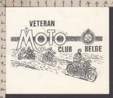 95983/ MOTOS, Carte De Voeux Du Vétéran Moto Club Belge - Motos