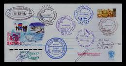 URSS USA Drapeau MARION ISLAND 2006 Pinguins Animals ANTARTIC Aviation Flags Cover Postal Stationery Gc4902 - Vols Polaires