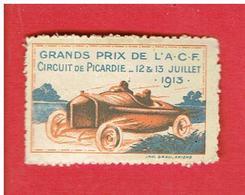 VIGNETTE GRANDS PRIX DE L A.C.F. CIRCUIT DE PICARDIE JUILLET 1913 AUTOMOBILE CLUB DE FRANCE VOITURE COURSE - Sports