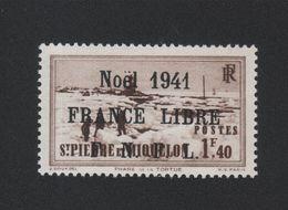 Faux Saint-Pierre Et Miquelon N° 223 (B) 1 F 40 Gomme Charnière - St.Pierre Et Miquelon
