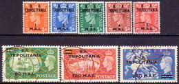 Brit.Occup. Of It.Colonies TRIPOLITANIA 1951 SG #T27-T34 Compl.set Used CV £170 - Tripolitaine