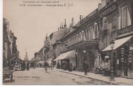 25  Pontarlier   Grande Rue   Commerces Pharmacie  Marchand De Cartes Postales - Pontarlier