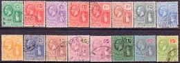 BRITISH VIRGIN ISLDS 1922-28 SG 86-101 Compl.set Used Wmk Mult.Script CA CV £225 - British Virgin Islands